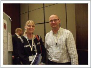 ICNPR 2012 in New York City; During the poster session; Prof. Barbara N. Timmermann, President of the American Society of Pharmacognosy(ASP) and Dr. MichałTomczyk, Department of Pharmacognosy, Medical University of Białystok, Poland (L to R) .