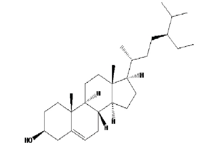 Structure of β-sitosterol.